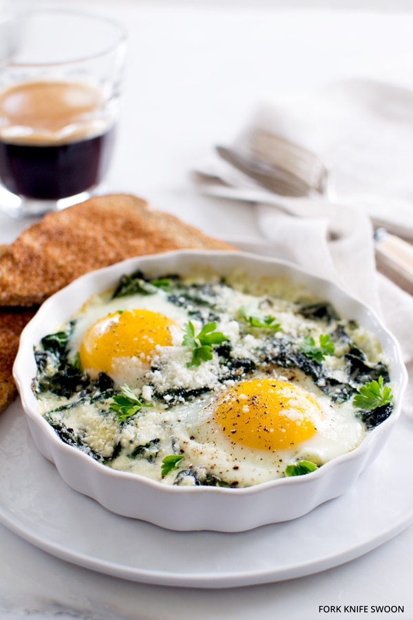 French Baked Eggs - International Vegetarian Recipes (That aren't soup or salad!) - Week 10 - Wanderlust Meal Plan