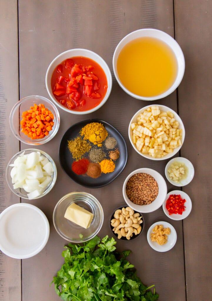 Mulligatawny Soup Ingredients
