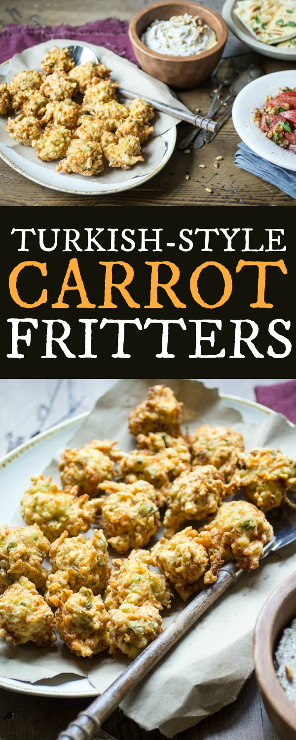 These carrot fritters are packed with feta and scallion and seasoned with a fragrant combination of cumin, coriander, and dill. Simply the best way to use up leftover carrots!