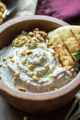 This thick and creamy Turkish Nut & Yogurt Dip is chock full of ground nuts and bold flavor. Perfect with toasted pita chips, spread onto sandwiches, or as part of a gourmet veggie platter!