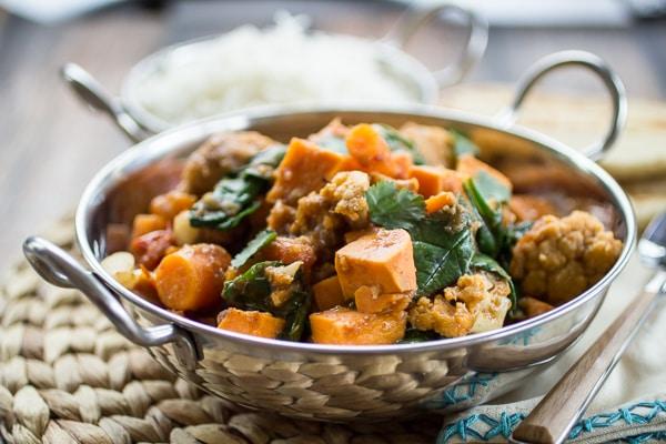 Indian Sweet Potato Curry - International Vegetarian Recipes (That aren't soup or salad!) - Week 10 - Wanderlust Meal Plan