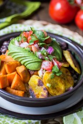 Vegan Cuban Bowls are perfect for Meatless Monday, or anytime you're craving a healthy meal. Make it from scratch, or speed things up by using canned beans, microwaveable brown rice, and store-bought pico de gallo. Don't worry, I won't tell!