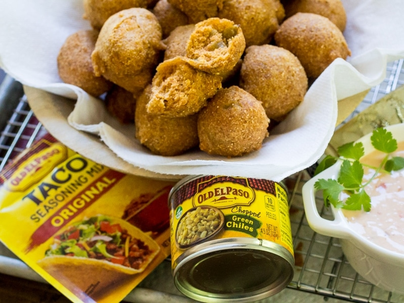 Mexican Hushpuppies are the perfect side dish for fried food or grilled fish tacos!