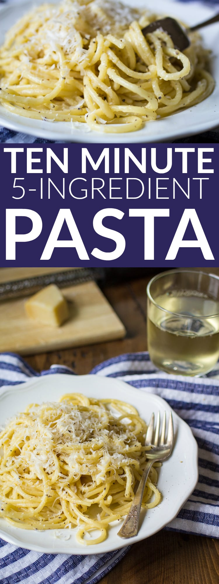 "Pasta for one, in just ten minutes time! This ""recipe"" requires NO MEASURING, just 5 ingredients, and can easily be scaled to make more servings."