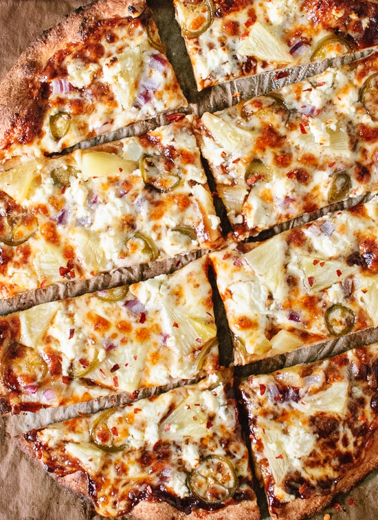 Pineapple Jalapeno BBQ Feta Pizza   Vegetarian BBQ Recipes aren't just for Meatless Monday! Enjoy these tasty meat-free recipes all summer long.