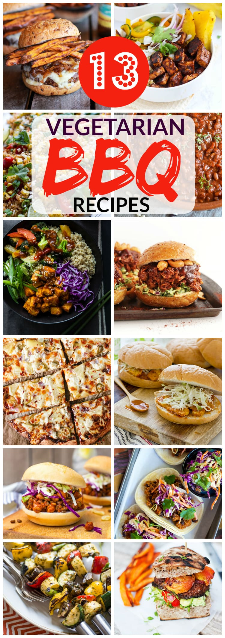 Vegetarian BBQ Recipes aren't just for Meatless Monday! Enjoy these tasty meat-free recipes all summer long.