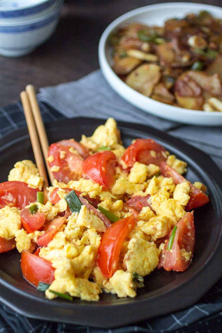 Easy chinese tomato eggs the wanderlust kitchen chinese tomato eggs are as simple as they are surprising perfect for breakfast lunch forumfinder Image collections