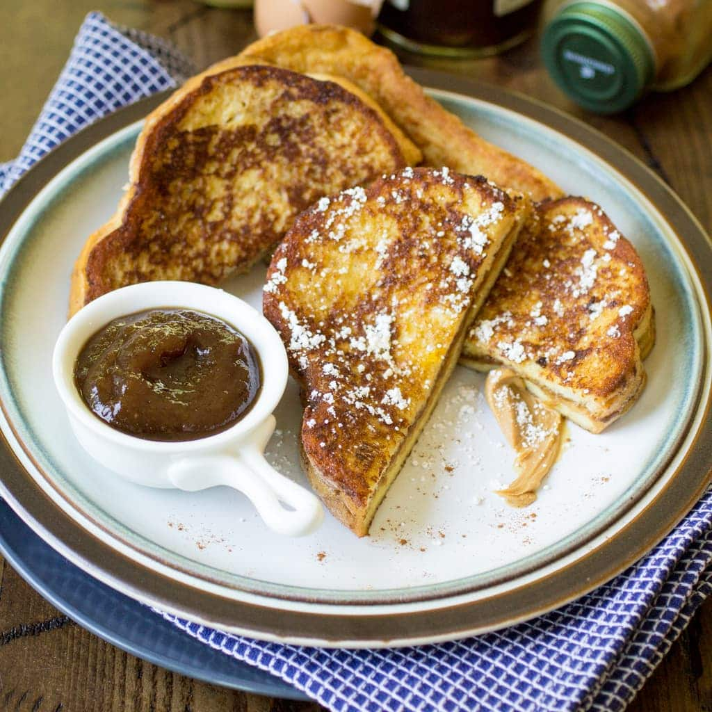 Peanut Butter and Jelly Stuffed French Toast - The Wanderlust Kitchen