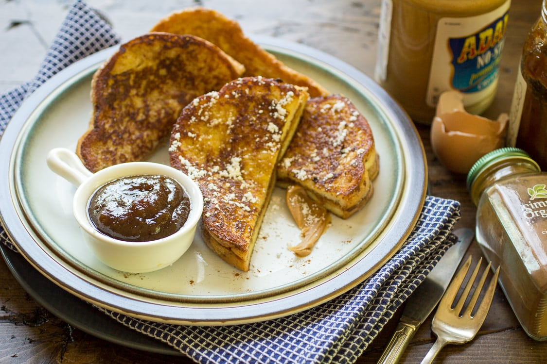 Peanut Butter and Jelly Stuffed French Toast: for when you can't decide between breakfast and lunch!