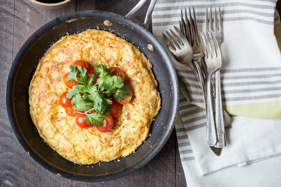 This Potato Chip Spanish Tortilla recipe is just the thing for an easy weeknight meal. You only need three ingredients and five minutes--start to finish-- to get this dinner on the table!