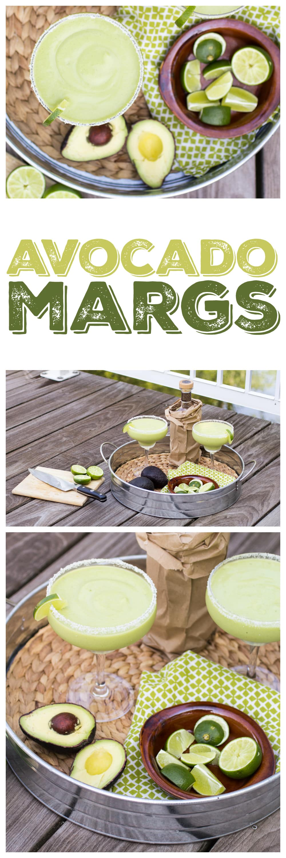 Avocado Margaritas are an unexpected summer treat - whip up a batch and enjoy on the patio!