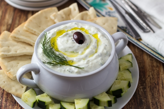 Traditional Greek Mezes, or small plates, are great for easy entertaining. Serve with bread and plenty of wine for the perfect party!