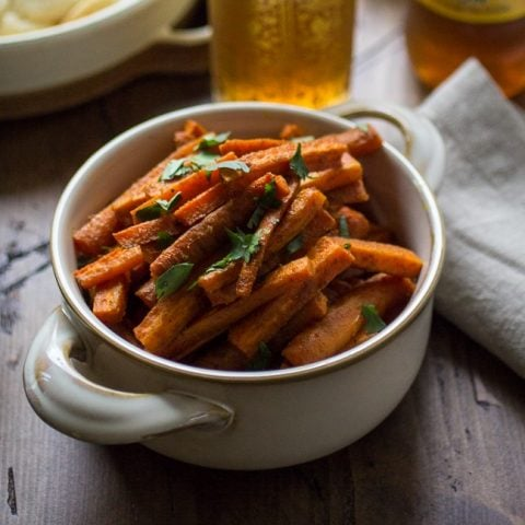 Curried Carrot Fries