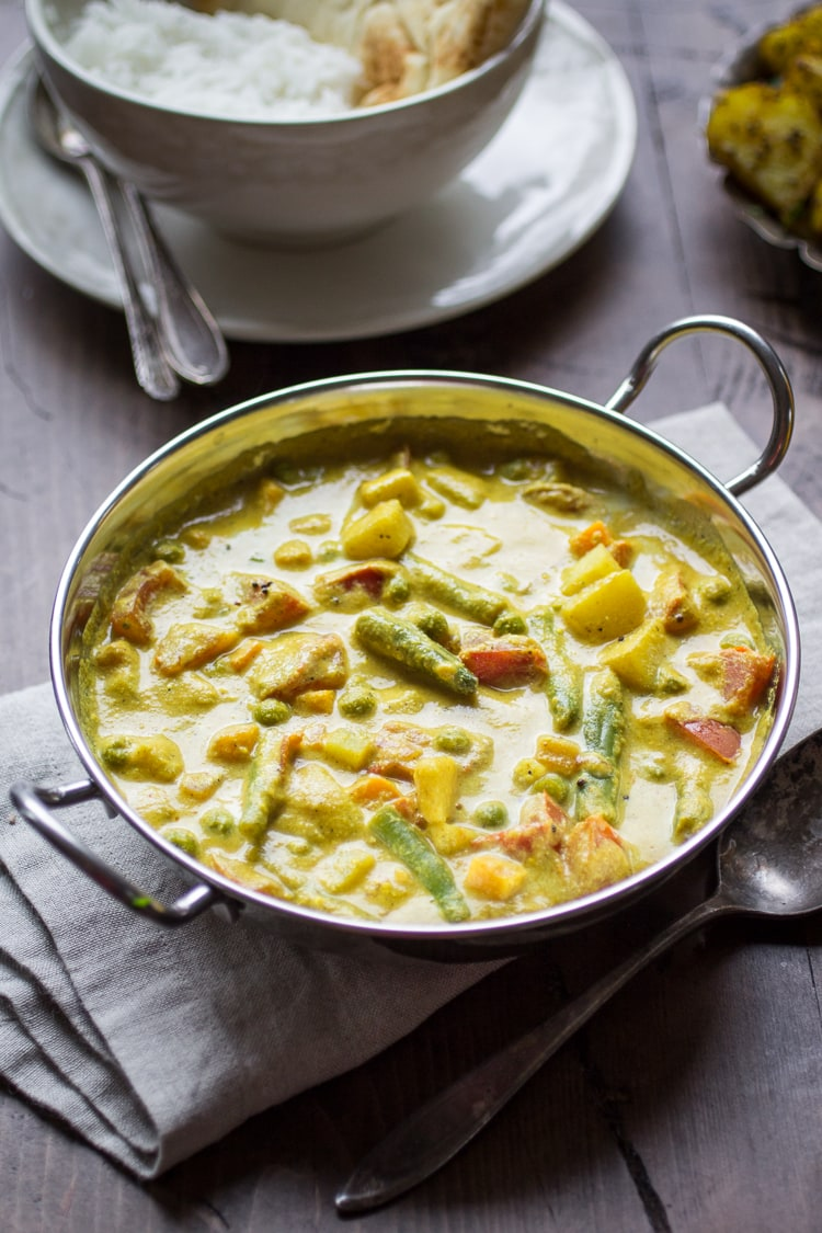Creamy indian vegetable korma the wanderlust kitchen this delectable indian vegetable korma is loaded with potatoes tomatoes carrots peas and green beans make sure you have plenty of naan to dip in the forumfinder Image collections