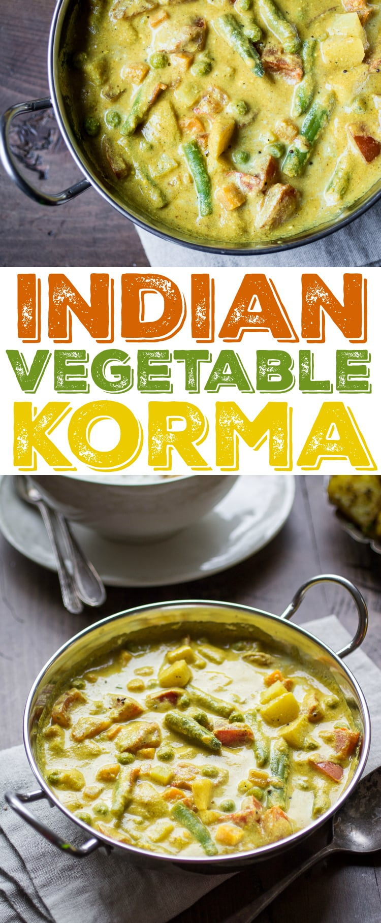 Creamy indian vegetable korma the wanderlust kitchen this delectable indian vegetable korma is loaded with potatoes tomatoes carrots peas forumfinder Gallery