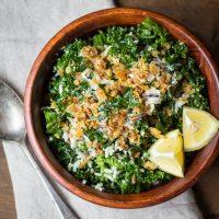 Lemony Massaged Kale & Wild Rice Salad