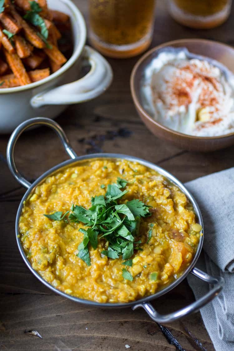 It's amazing what a few fragrant ingredient and spices can do to a pot of lentils! Serve with plenty of naan bread and basmati rice for the perfect Indian meal.