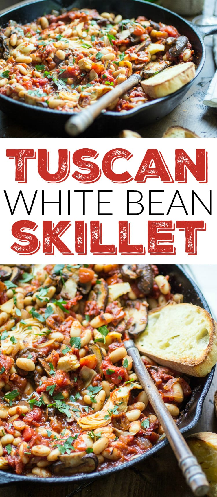 This vegetarian skillet meal is made from pantry staples for a quick weeknight dinner!