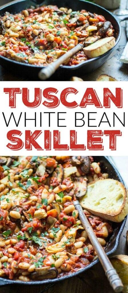 Tuscan White Bean Skillet Recipe