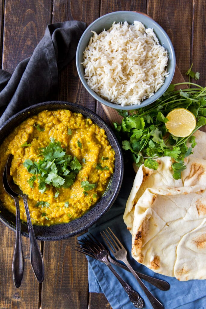How to Make Dal.  This Red Lentil Dal recipe makes the perfect plant-based Indian meal! Rich, fragrant, and packed with protein for a meal you can feel good about.