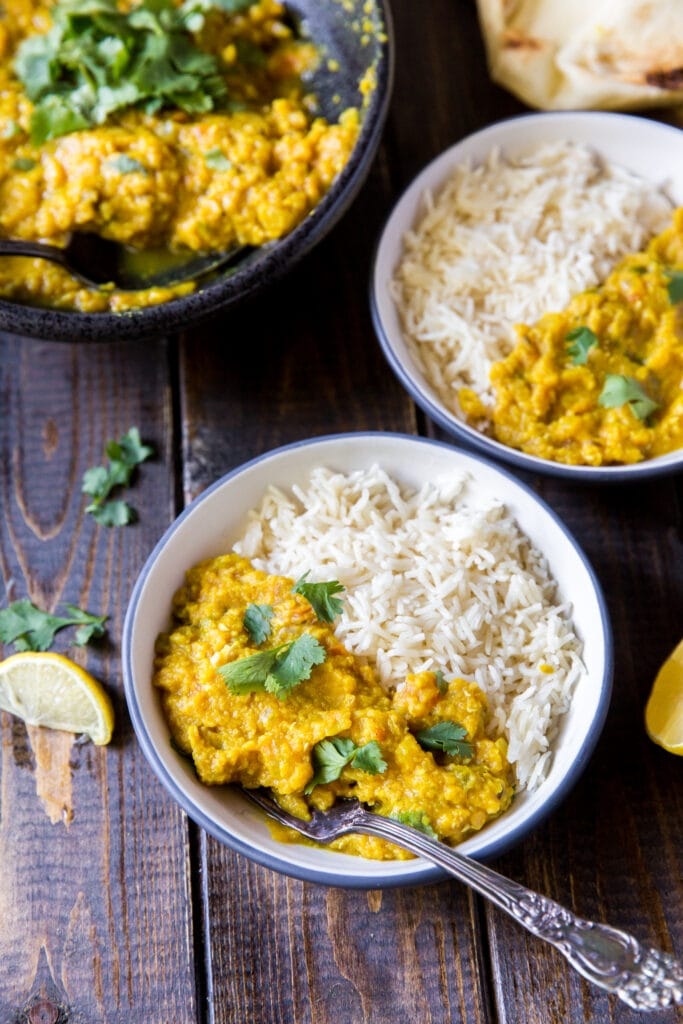 This Red Lentil Dal recipe makes the perfect plant-based Indian meal! Rich, fragrant, and packed with protein for a meal you can feel good about.