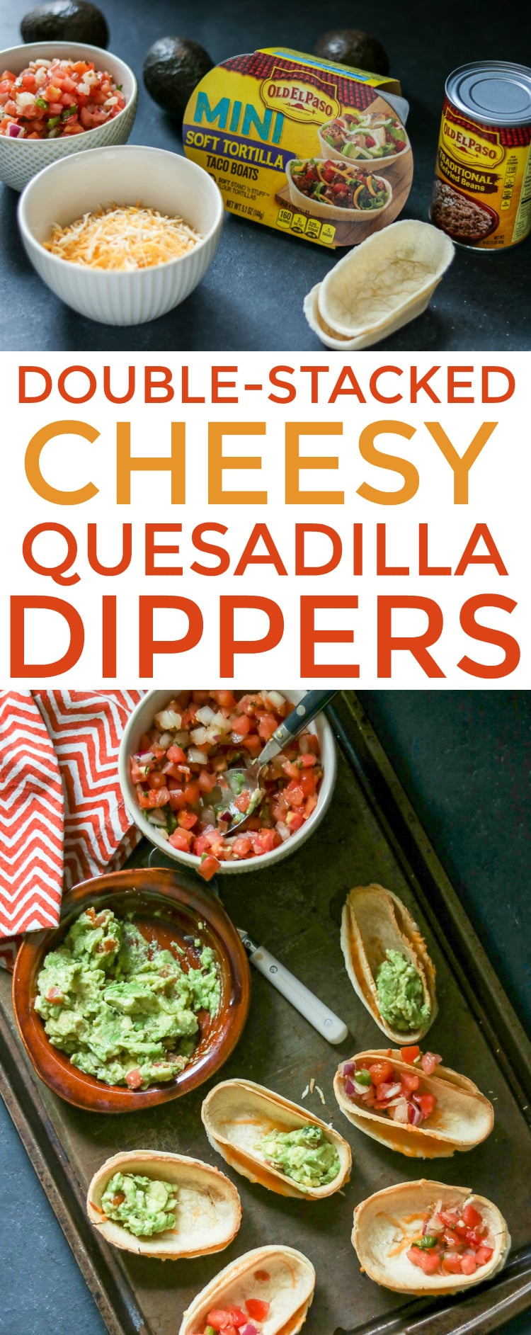 Simple, yet satisfying, these cheesy quesadilla dippers are the perfect snack!