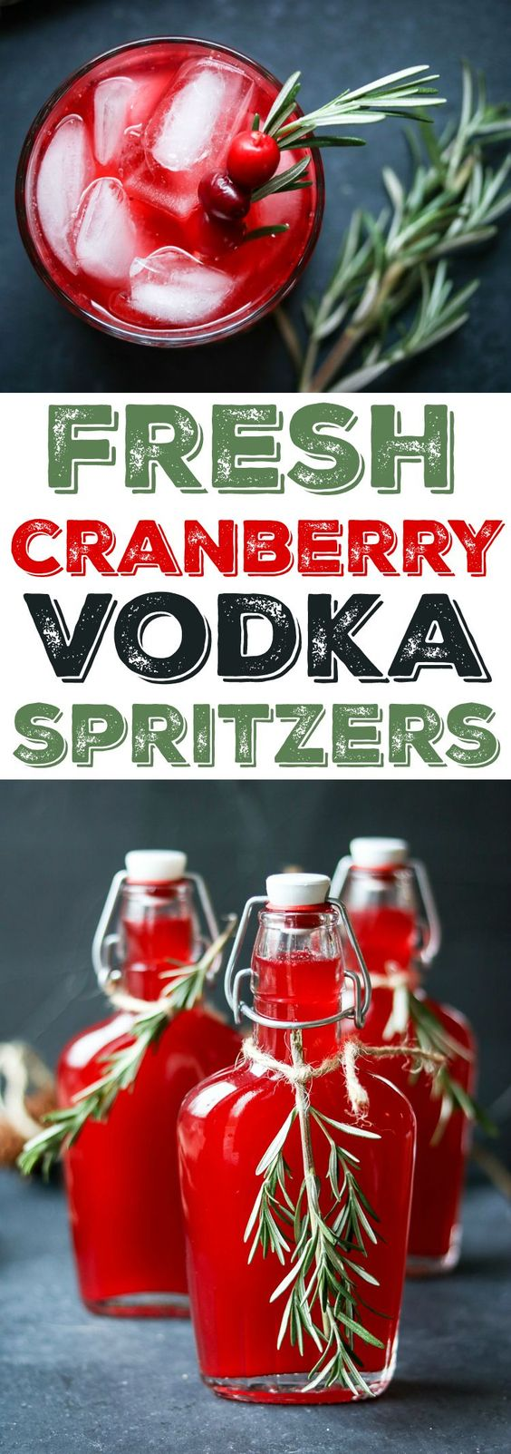 fresh cranberry vodka spritzer recipe