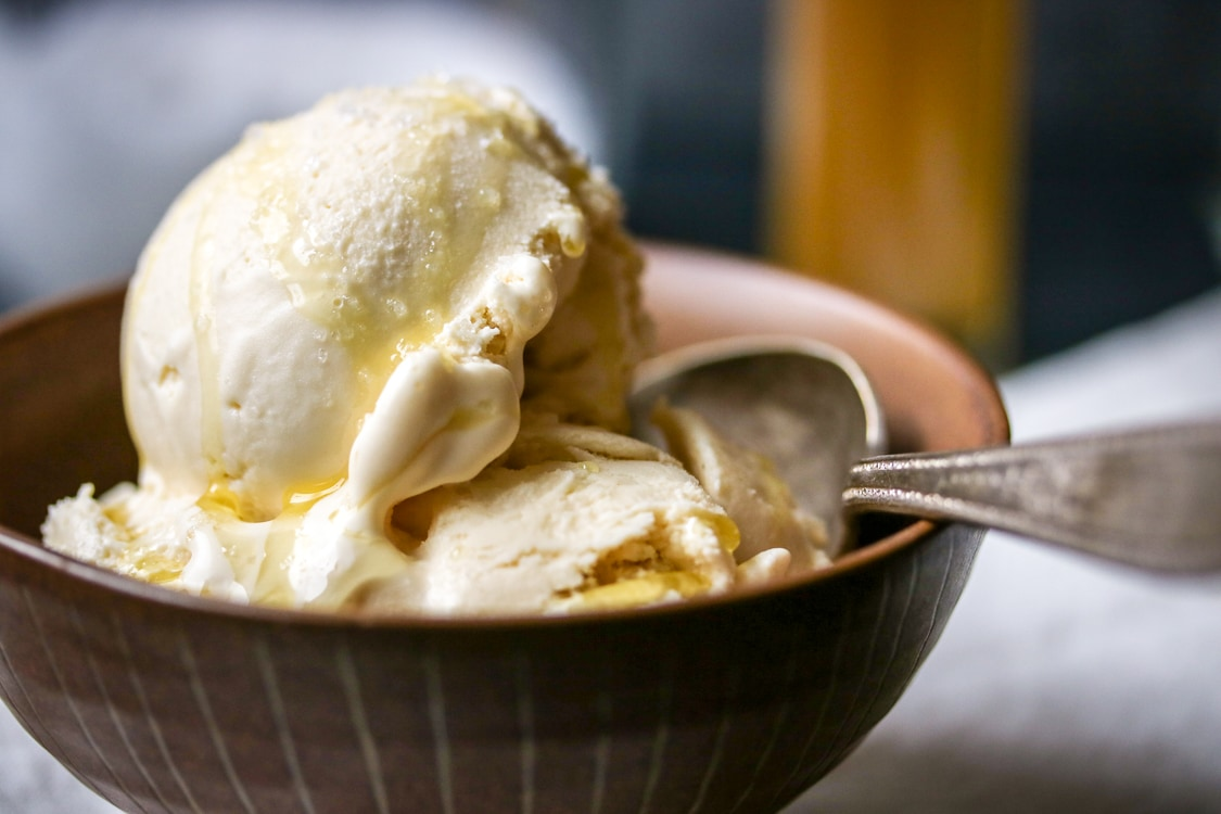 Ice cream with olive oil is delicious, just try this olive oil icecream recipe! It sounds crazy, but the surprising flavor of this rosemary and olive oil ice cream will you have coming back for more!