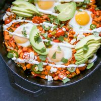 Loaded Sweet Potato Hash with Eggs