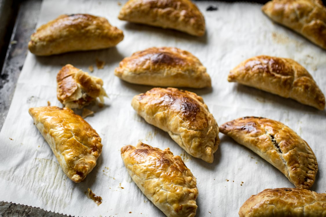 Whip up this Sweet and Savory Vegetarian Cornish Pasties recipe next time you need an easy and versatile appetizer!