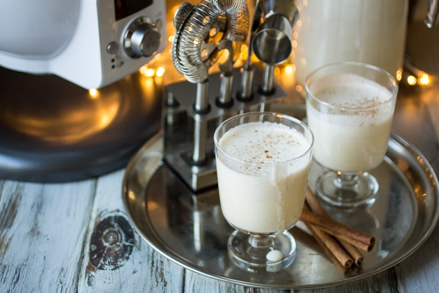 This Homemade Eggnog recipe is easy, delicious, thick and creamy with a hint of nutmeg! This fresh eggnog will make you wonder why you bought eggnog at the store!