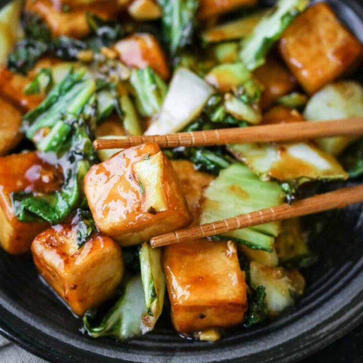 Sichuan Bok Choy Tofu Stir-Fry