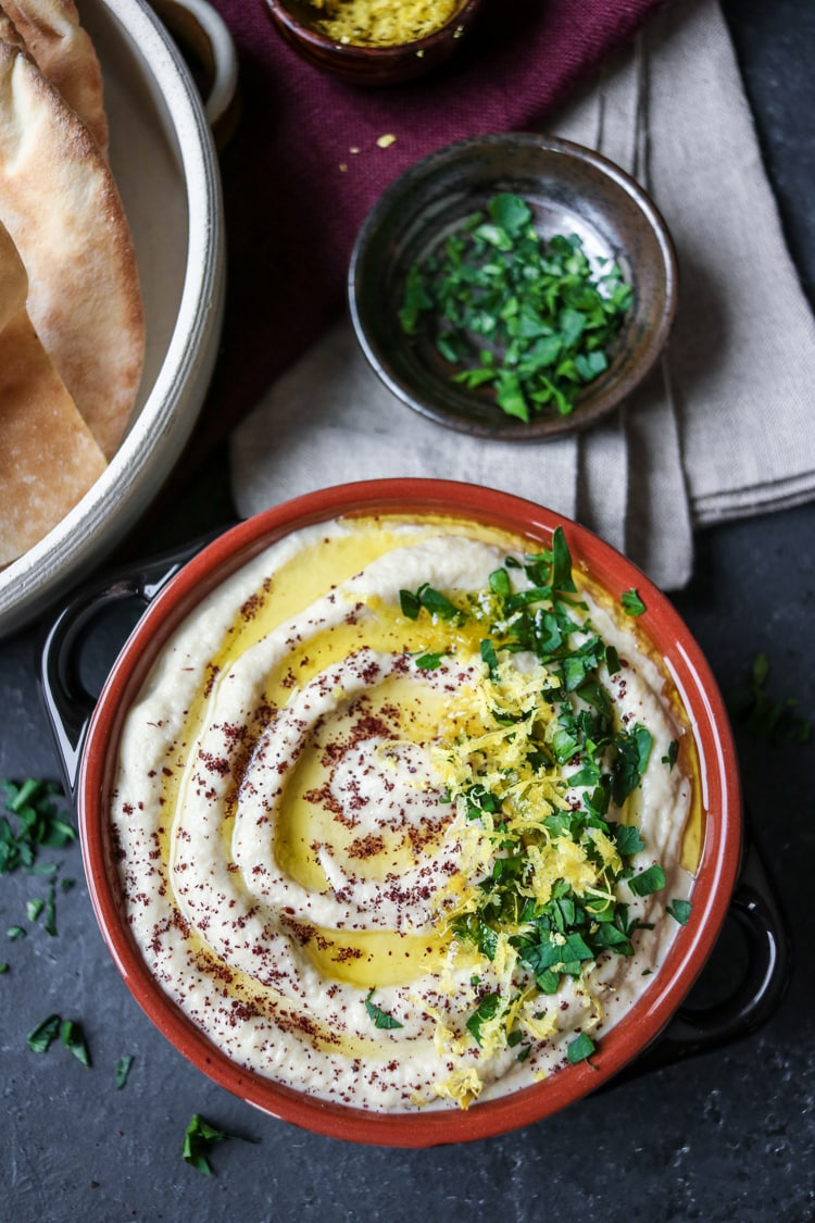 Classic Baba Ghannouj: a creamy and smoky eggplant dip!
