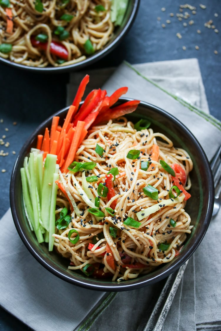 Get that perfect take-out taste at home with this easy cold noodles with sesame sauce recipe!