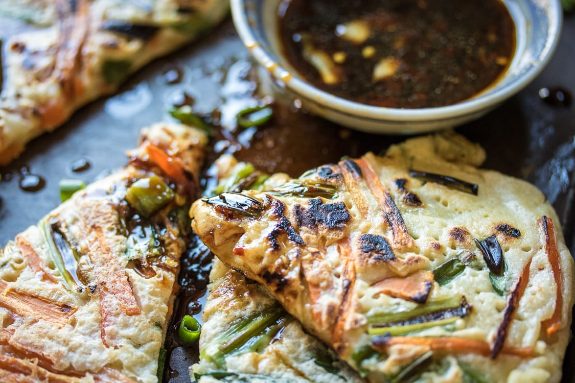 Korean savory pancakes pajeon the wanderlust kitchen looking for an easy dinner idea make pajeon combine leftover vegetables with a simple ccuart Choice Image