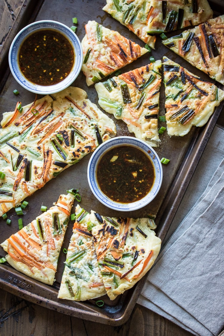 Korean savory pancakes pajeon the wanderlust kitchen looking for an easy dinner idea make pajeon combine leftover vegetables with a simple forumfinder Images