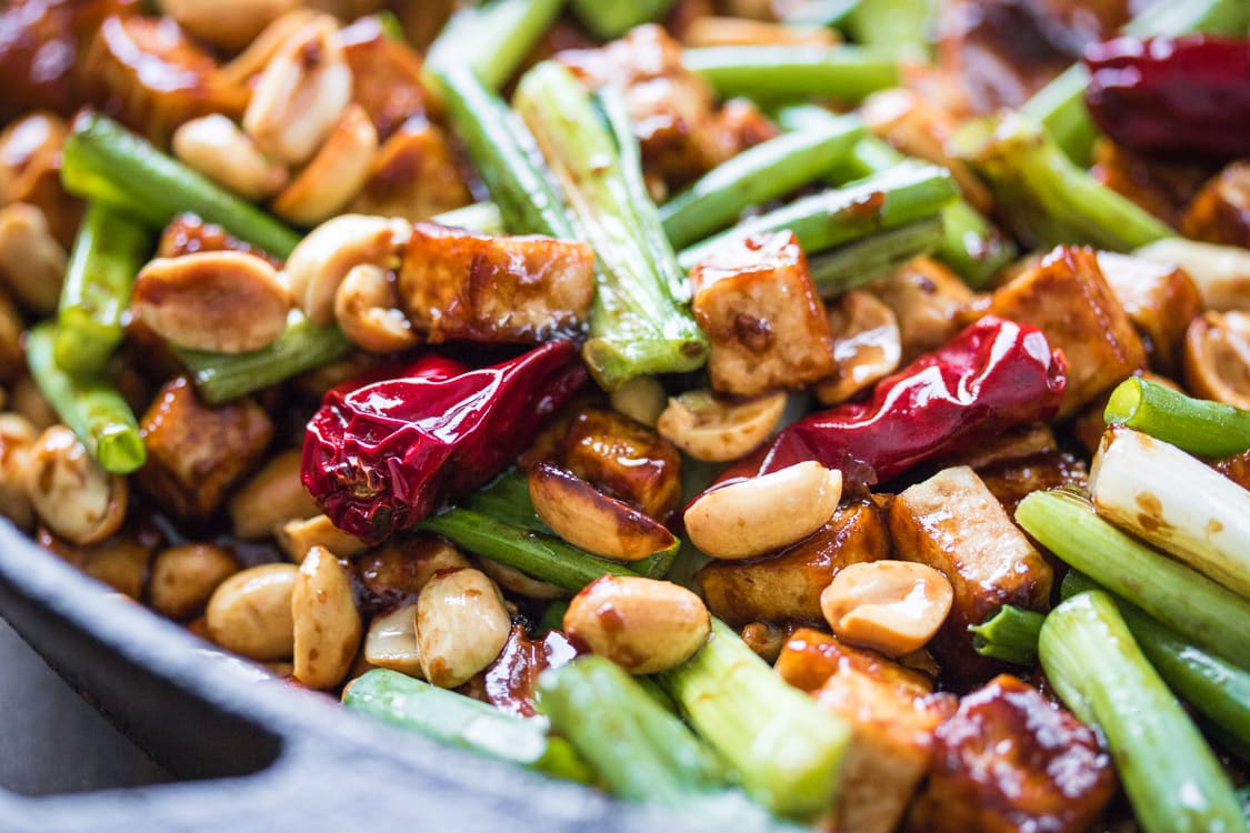 Fifteen minutes is all you need to make this luscious Kung Pao Tofu!