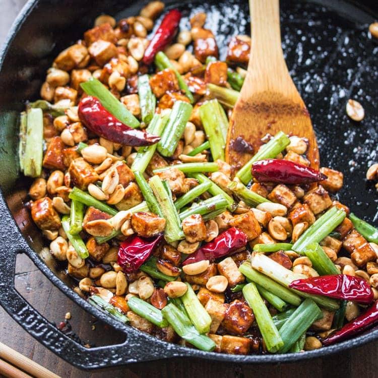 15 Minute Kung Pao Tofu - The Wanderlust Kitchen