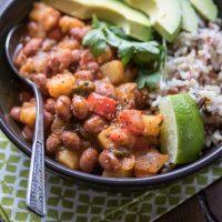 Saucy Puerto Rican Beans & Potatoes