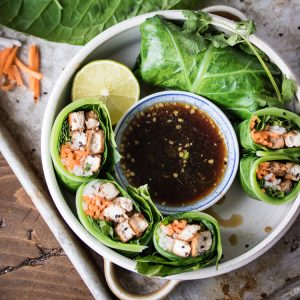 Vegan Banh Mi Collard Wraps