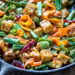 Hoisin Tofu Stir Fry with Peppers and Carrots