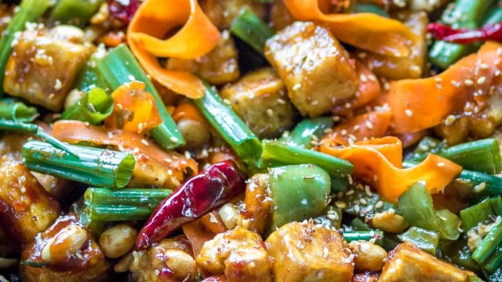 Hoisin Tofu Stir Fry With Peppers And Carrots The Wanderlust Kitchen