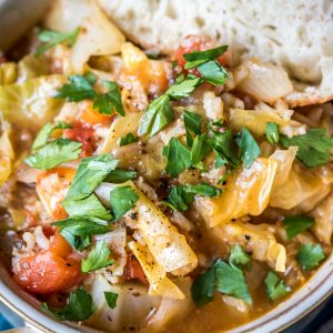 Vegetarian Cabbage Roll Soup