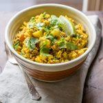 One Pot Lentil Dahl and Rice
