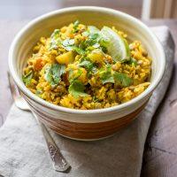 One Pot Lentil Dahl & Rice