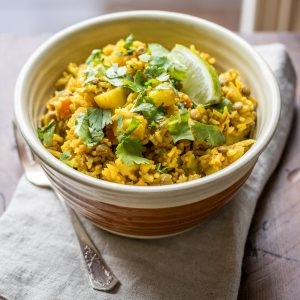 One Pot Lentil Dahl & Rice