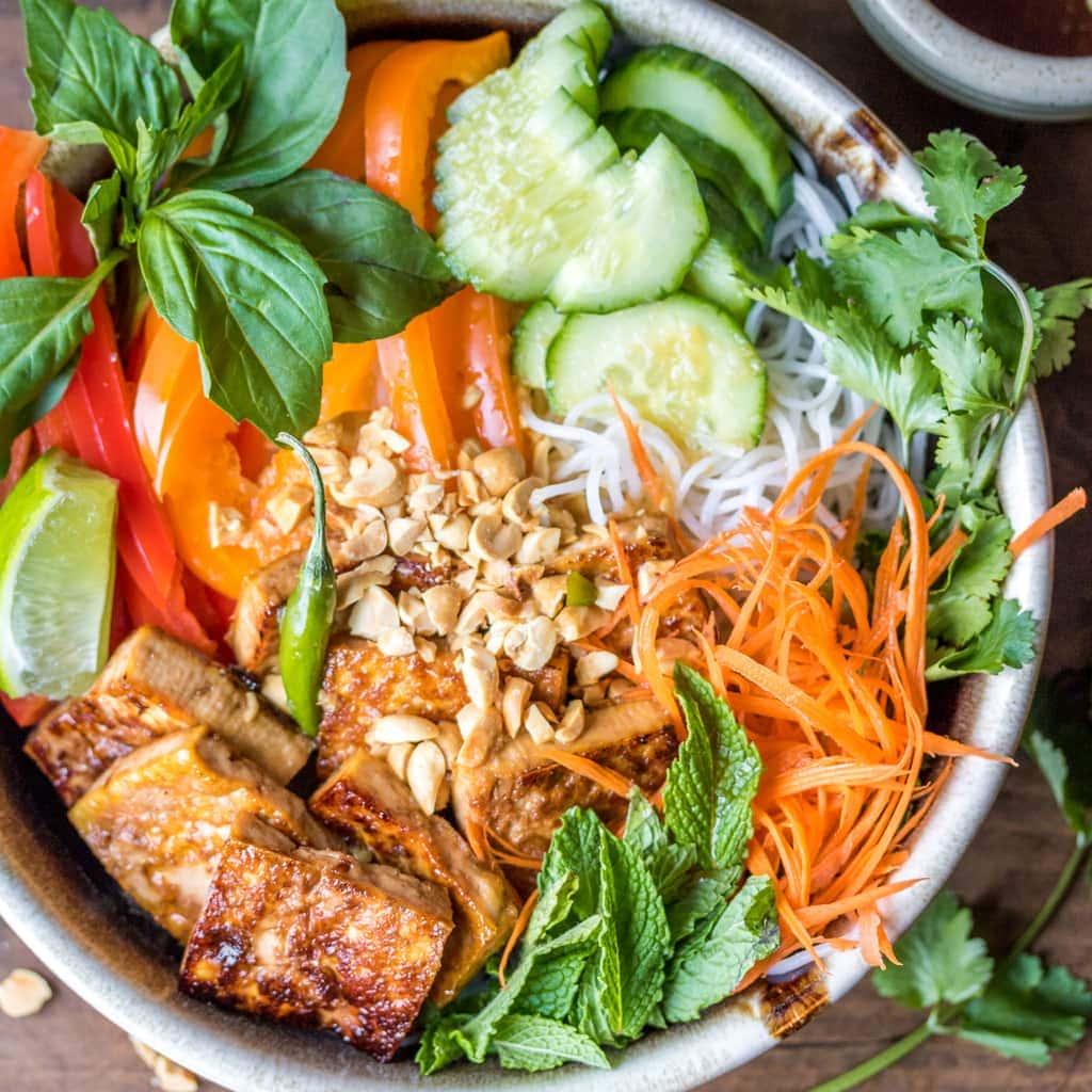 Vegan Bún Chay (Vietnamese Noodle Salad) - The Wanderlust Kitchen