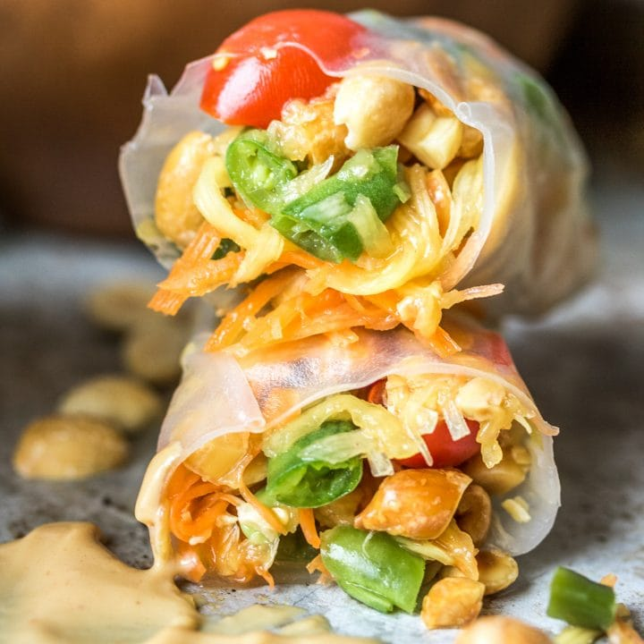 When you can't decide between fresh rolls and papaya salad, make papaya salad rolls!