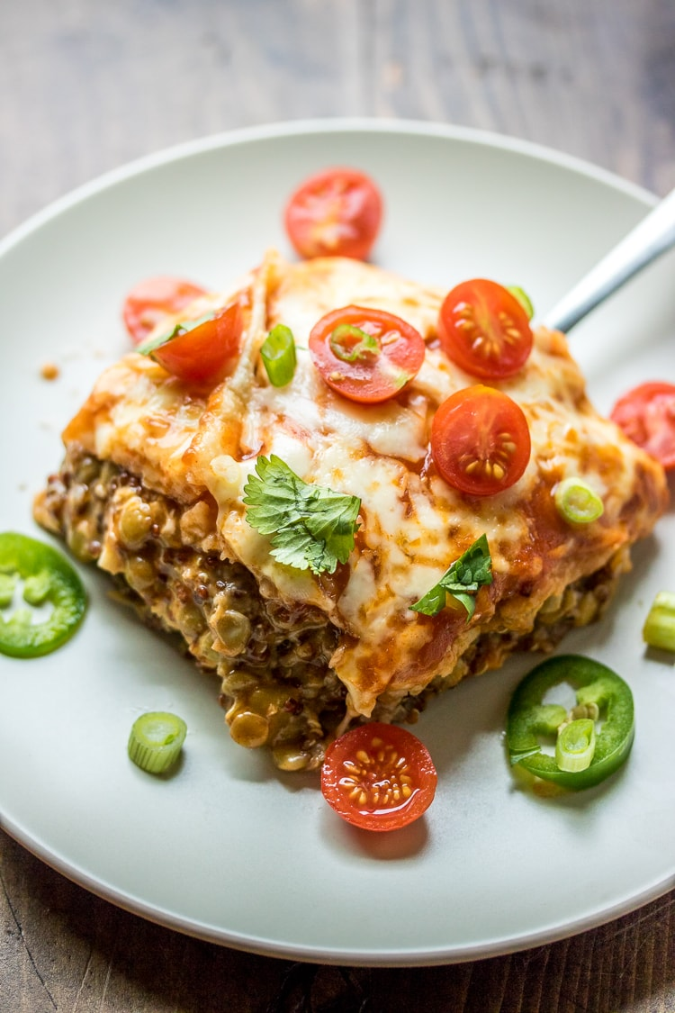 For A Meatless Alternative To Traditional Enchiladas Whip Up This Easy Lentil Enchilada Casserole
