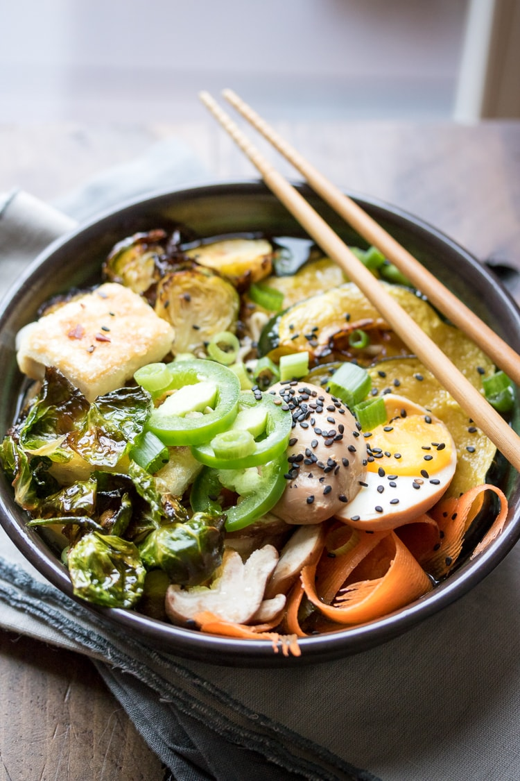 What vegetables for ramen? Search no more as we have the answer! A hearty bowl of winter vegetable ramen is just the thing to warm you up!
